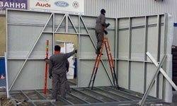 Строительство торговых павильонов в Искитиме БМЗ